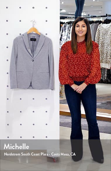 Bead Detail Jersey Jacket, sales video thumbnail