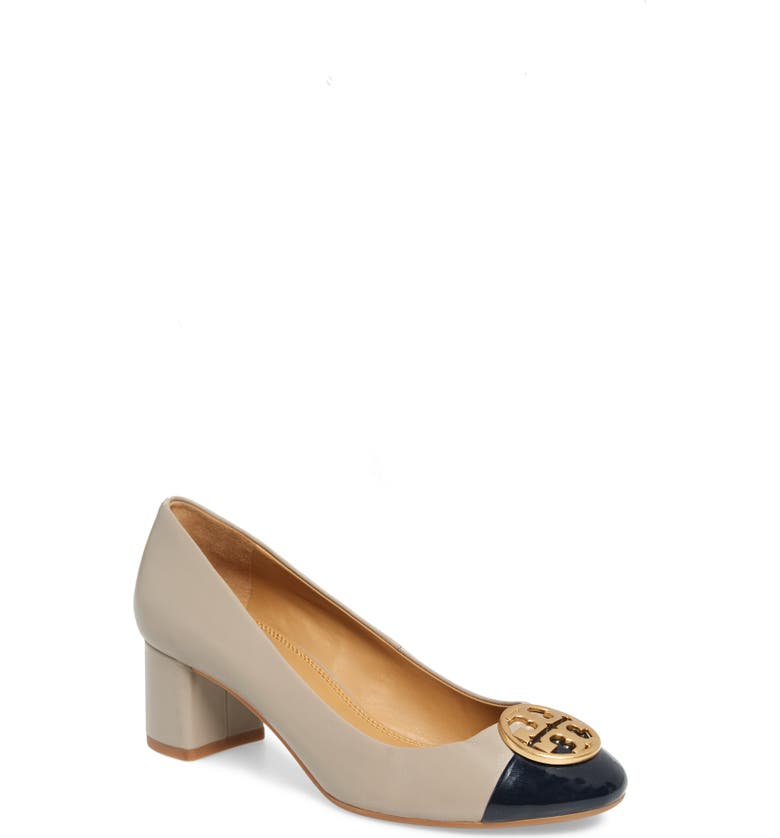 TORY BURCH Chelsea Pump, Main, color, DUST STORM/ PERFECT NAVY