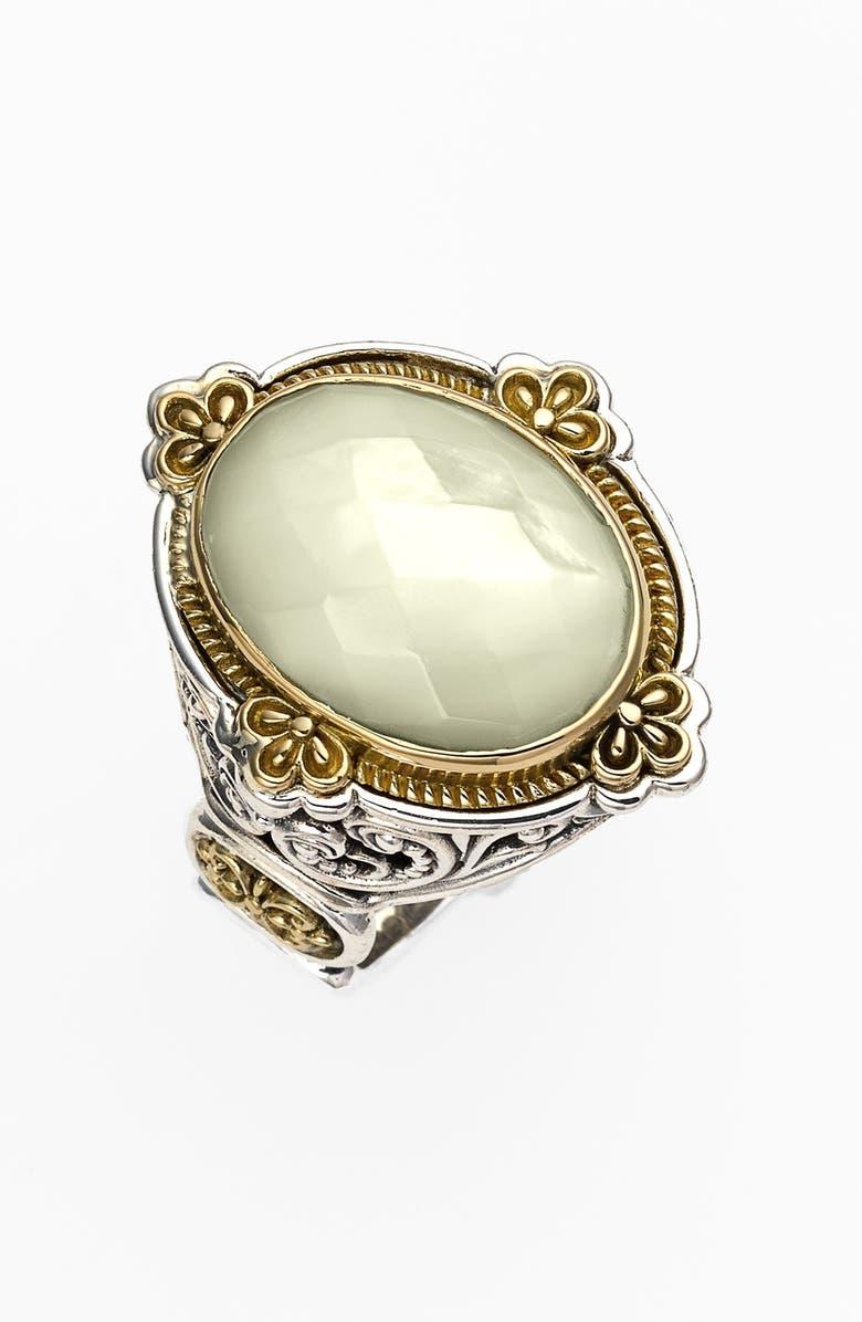 KONSTANTINO 'Selene' Semiprecious Stone Ring, Main, color, SILVER/ GOLD