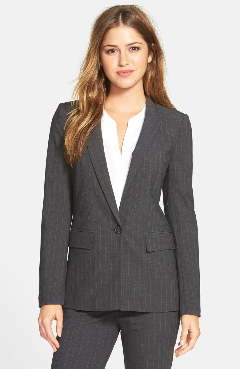 HALOGEN<SUP>®</SUP> Pinstripe Stretch Suiting Jacket, Main, color, 030