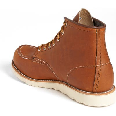 Red Wing 6 Inch Moc Toe Boot, Brown