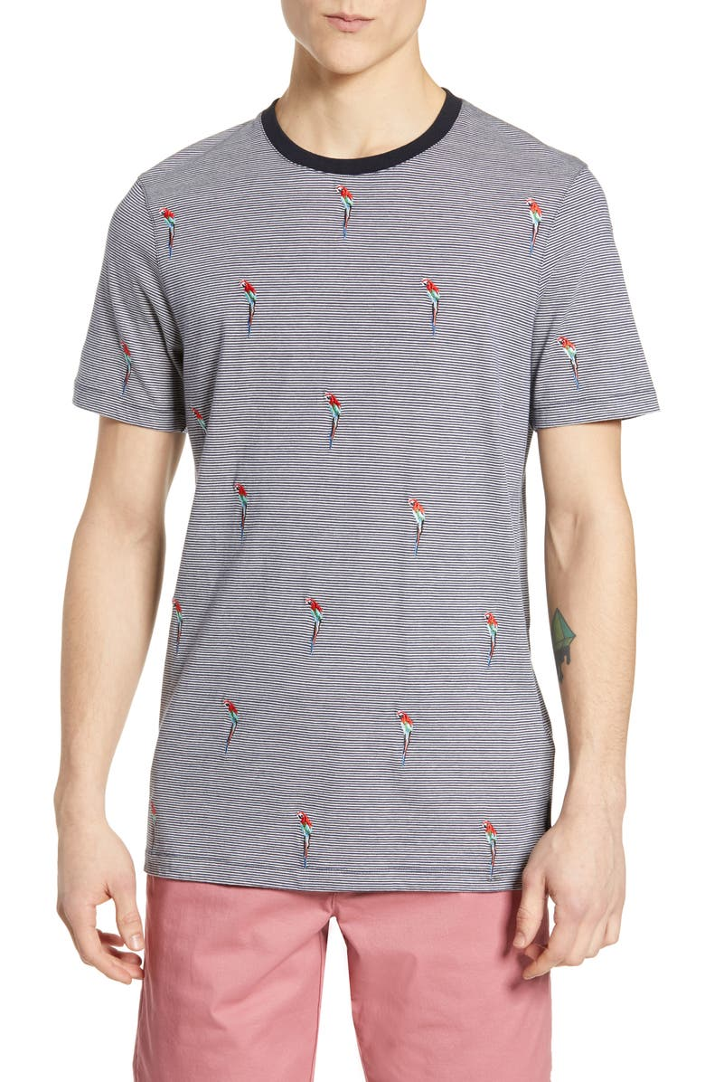 TED BAKER LONDON Vipa Slim Fit Embroidered T-Shirt, Main, color, NAVY