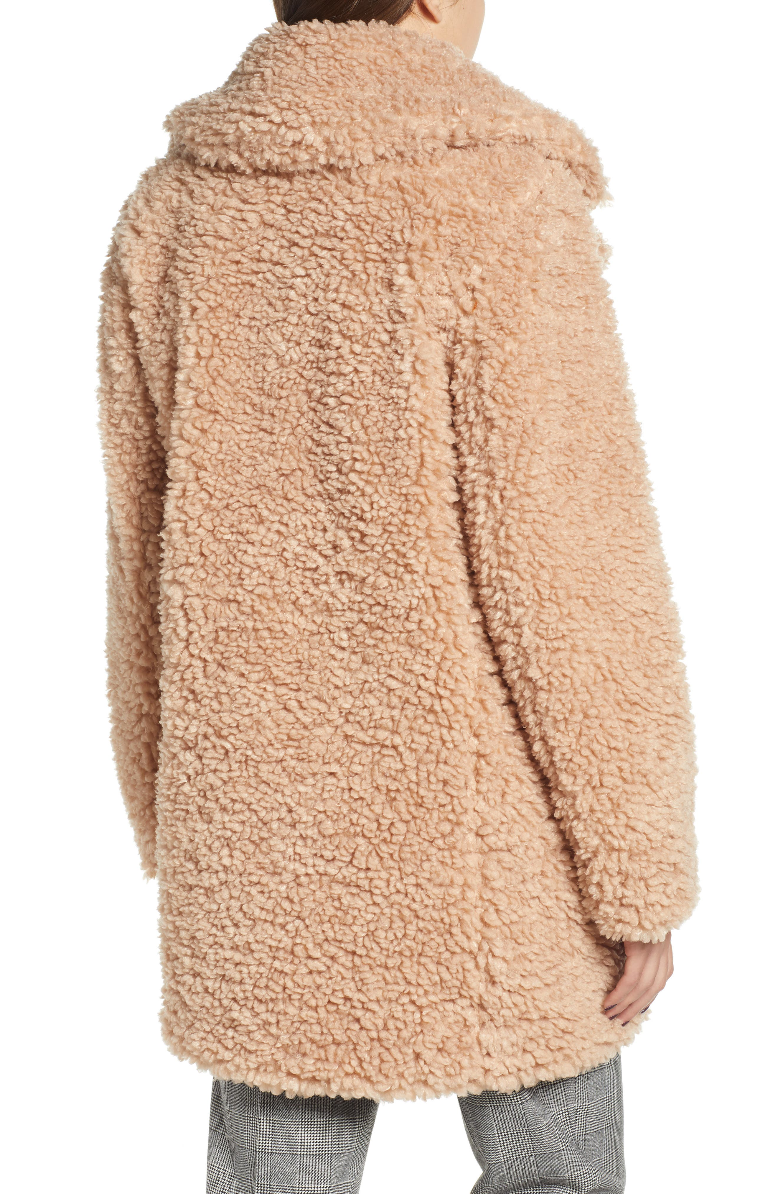 ,                             Faux Shearling Coat,                             Alternate thumbnail 15, color,                             900