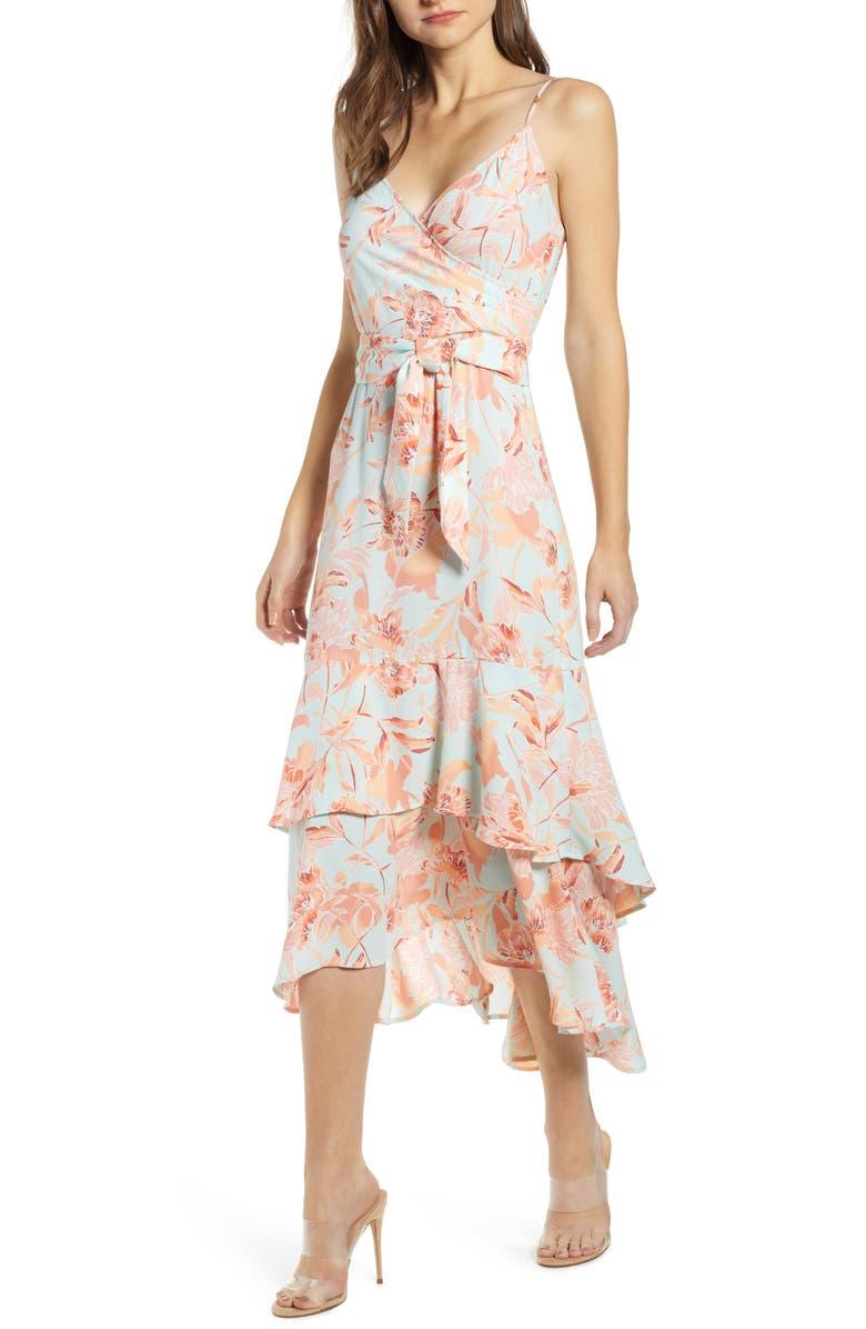 LEITH Sleeveless Tiered Midi Dress, Main, color, 445