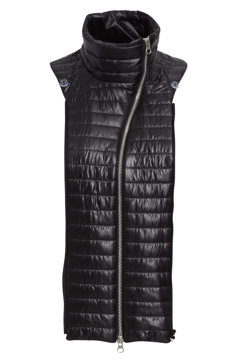 VERONICA BEARD Quilted Funnel Neck Dickey, Main, color, 001
