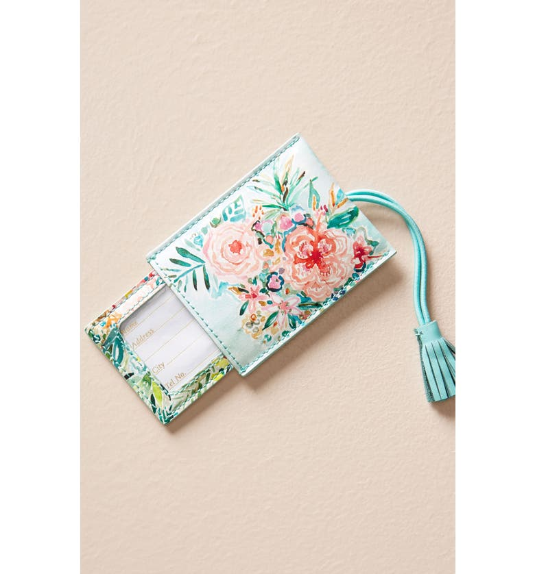 ANTHROPOLOGIE Wild At Heart Luggage Tag, Main, color, 400