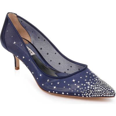Badgley Mischka Felicity Crystal Embellished Pump, Blue