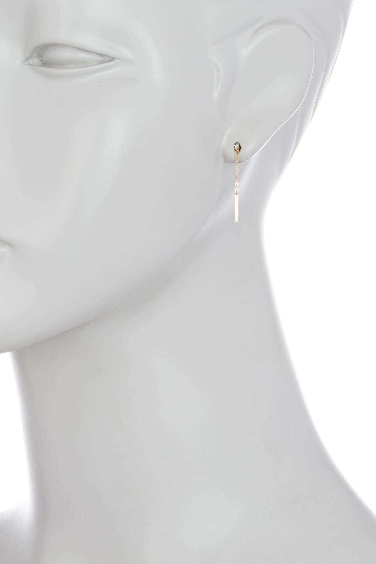 Image of Candela 14K Yellow Gold Bar & Chain Drop Earrings