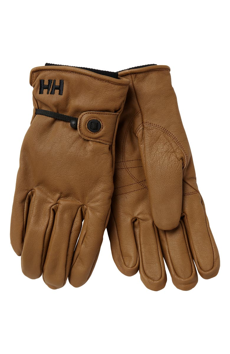 HELLY HANSEN Vor Leather Gloves, Main, color, 215