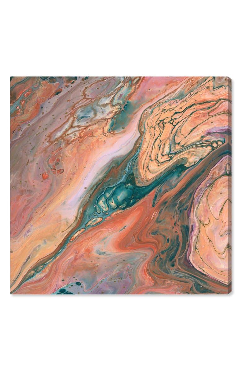 OLIVER GAL Orange Surreal Canvas Wall Art, Main, color, ORANGE TEAL GREEN