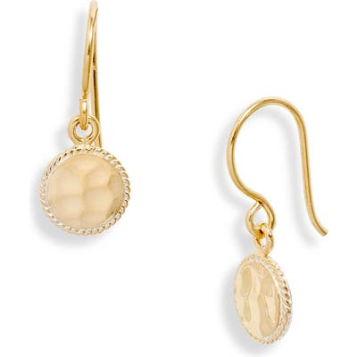 Anna Beck Small Hammered Drop Earrings