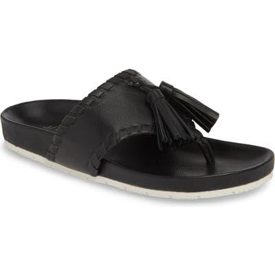Jslides Nigel Tassel Slide Sandal, Black