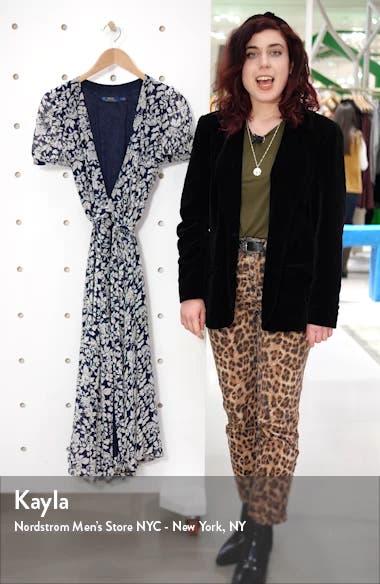 Floral Crepe Wrap Midi Dress, sales video thumbnail