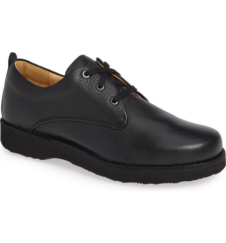 SAMUEL HUBBARD Free Plain Toe Derby, Main, color, BLACK LEATHER