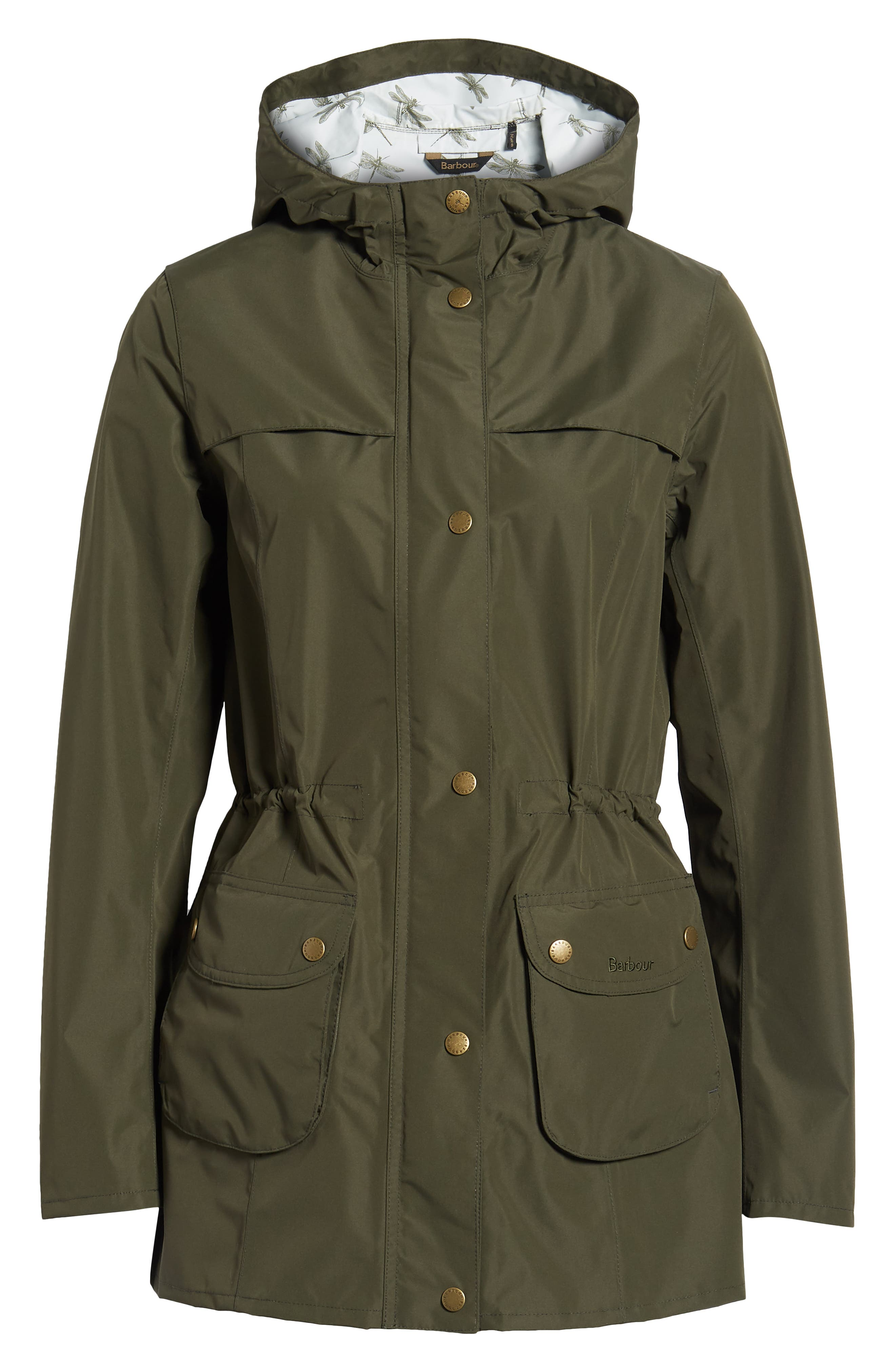 ,                             Aire Waterproof Hooded Jacket,                             Alternate thumbnail 7, color,                             OLIVE