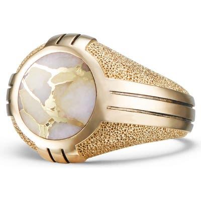 David Yurman Southwest 18K Gold Signet Ring
