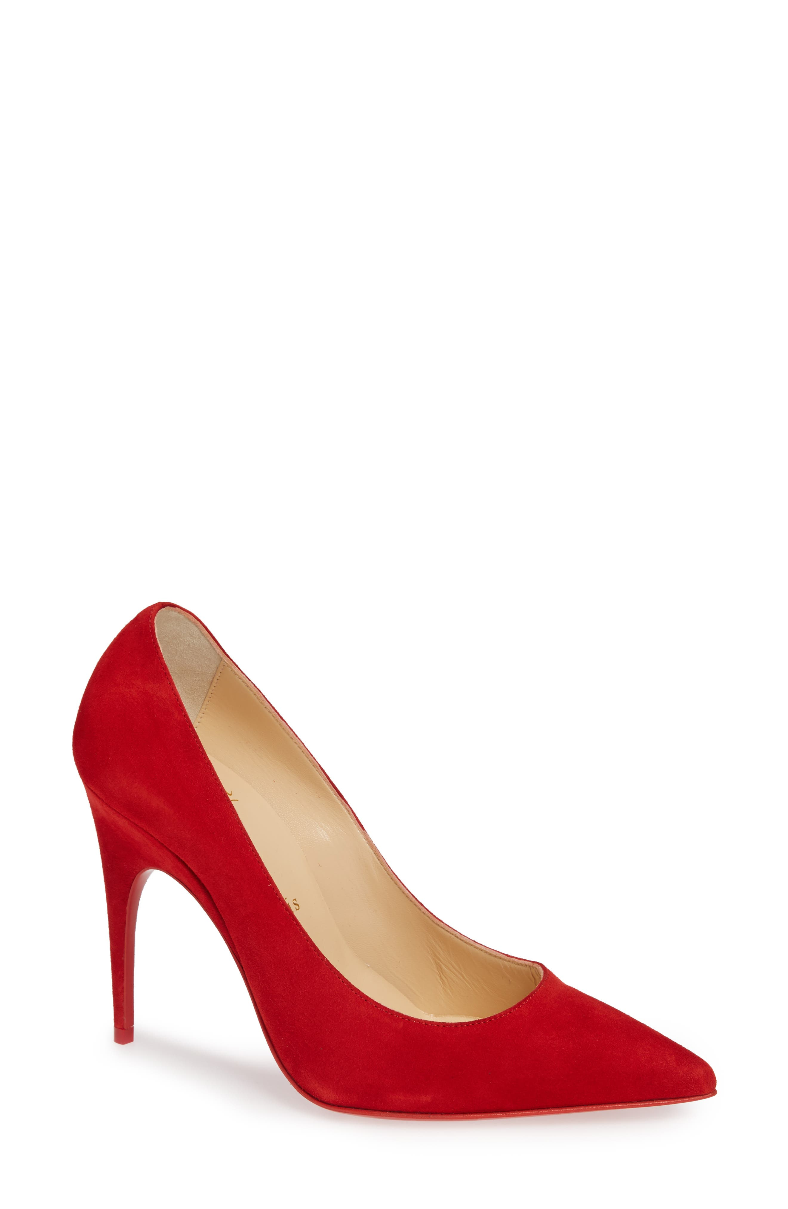 Christian Louboutin Alminette Pointy Toe Pump - Red