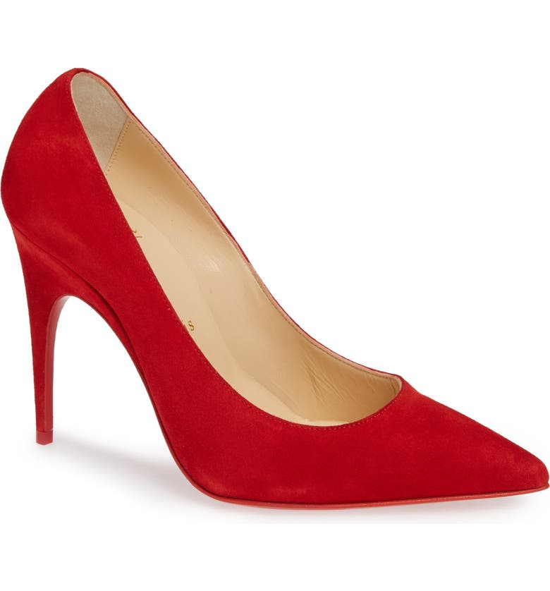 CHRISTIAN LOUBOUTIN Alminette Pointy Toe Pump, Main, color, LOUBI RED