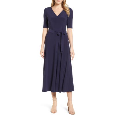 Chaus Lisa Tie Waist Dress, Blue