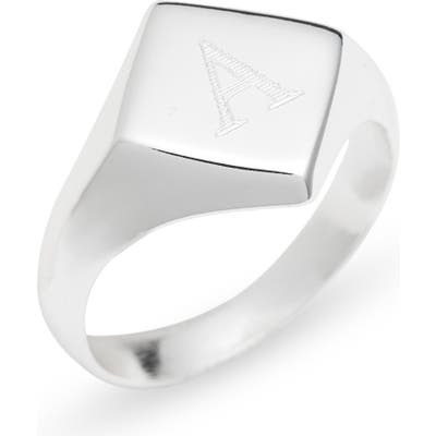 Argento Vivo Engraveable Rhombus Signet Ring