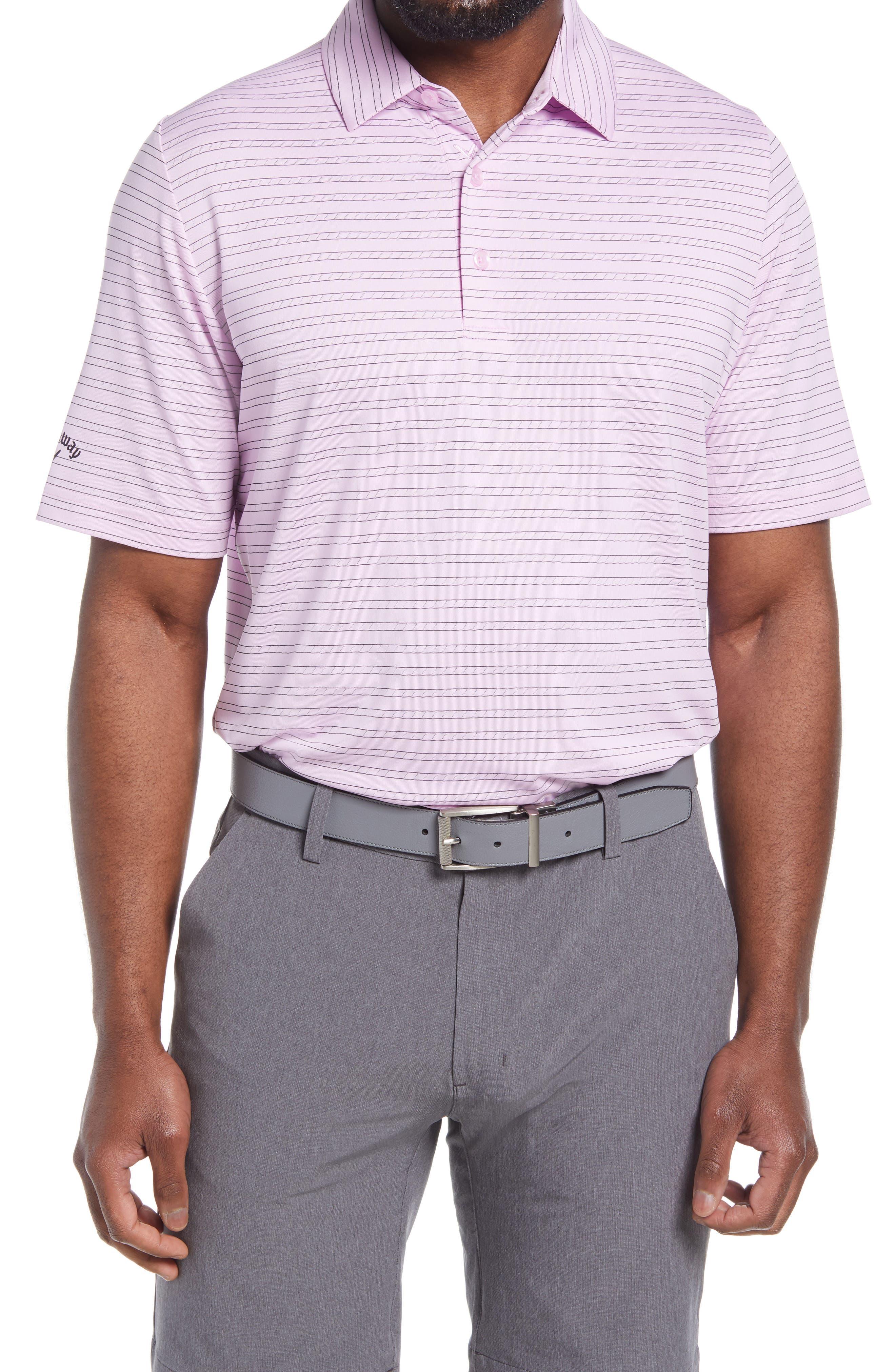 Men's Callaway Golf Swing Tech(TM) Ventilated Stripe Performance Golf Polo
