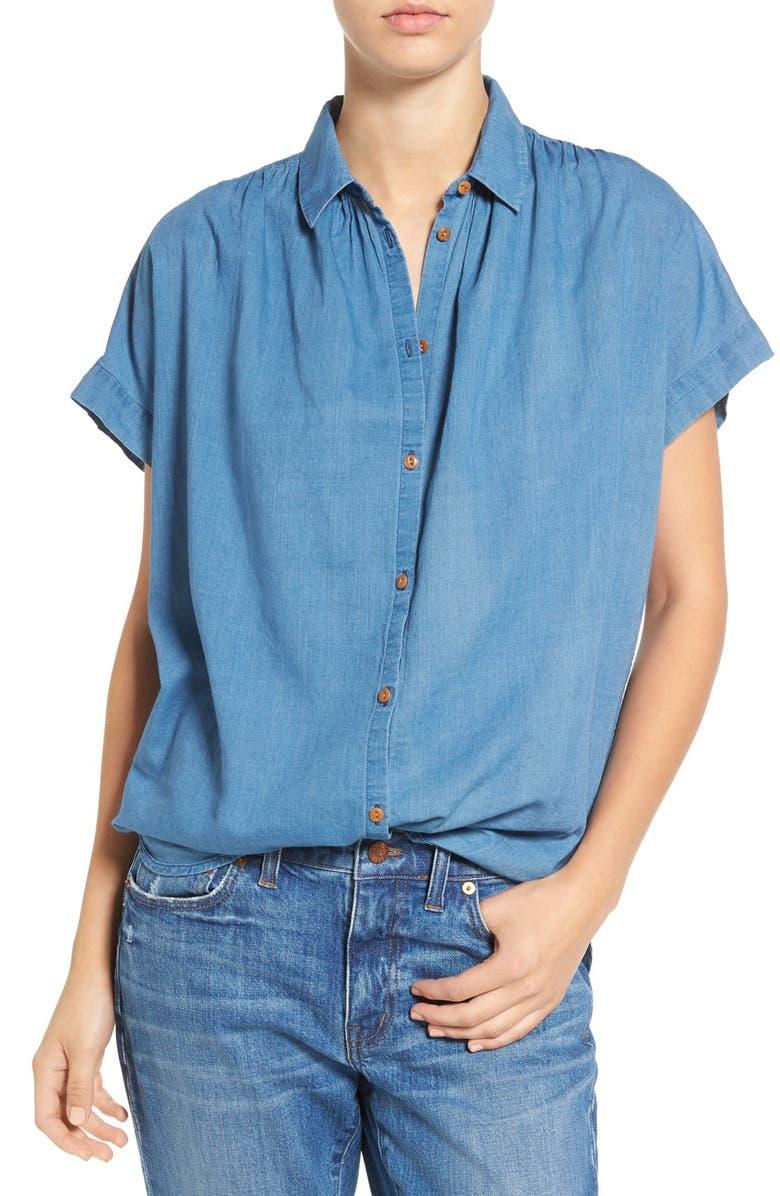 MADEWELL Central Chambray Shirt, Main, color, BRIGHT INDIGO