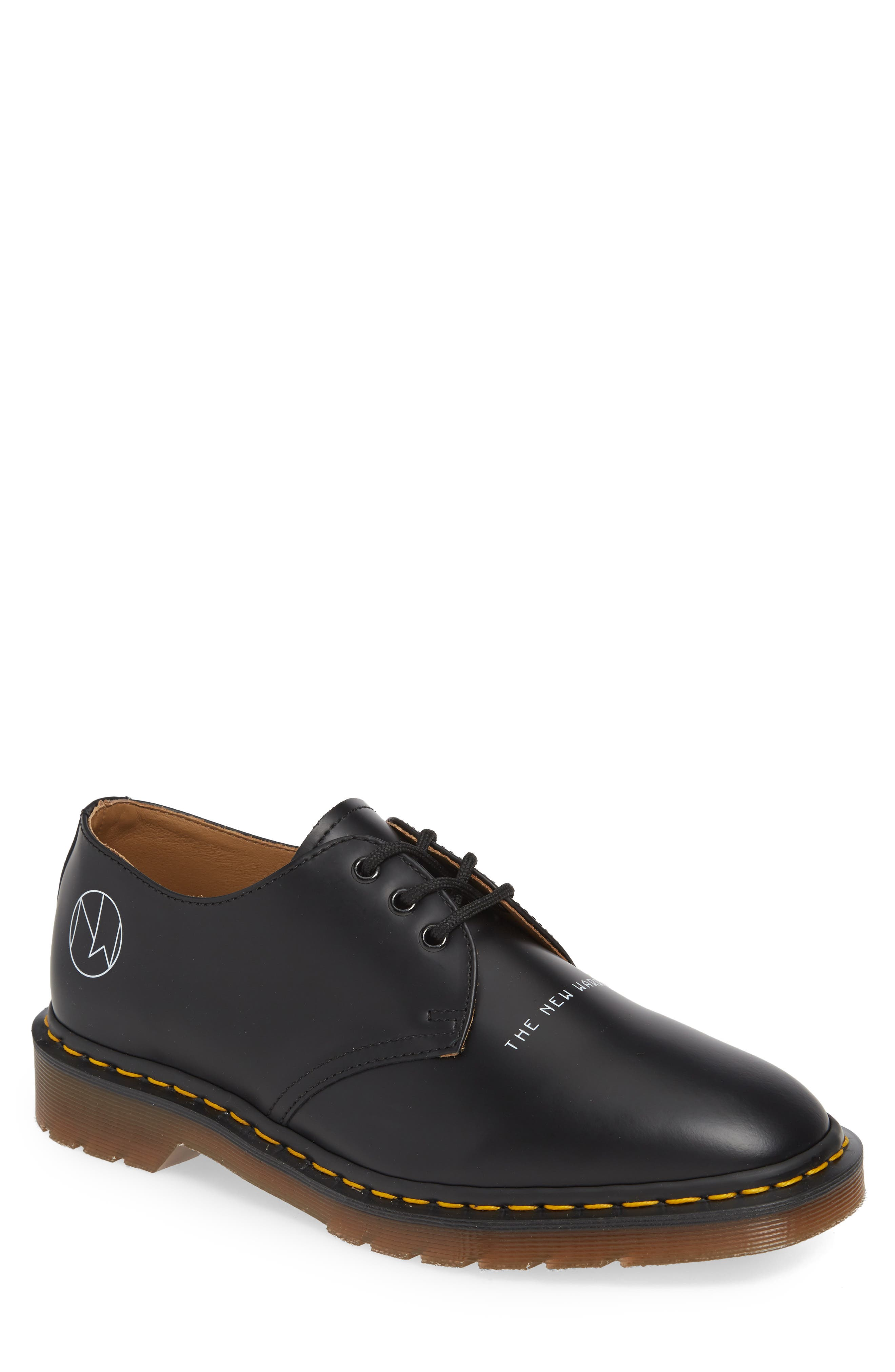 x UNDERCOVER 1461 Derby, Main, color, BLACK LEATHER