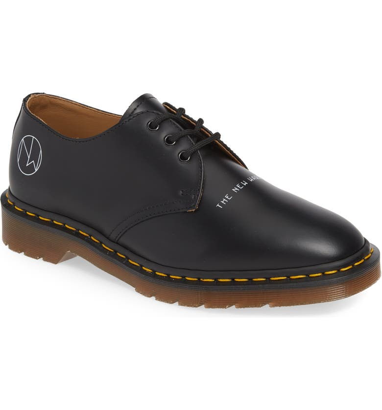 DR. MARTENS x UNDERCOVER 1461 Derby, Main, color, BLACK LEATHER