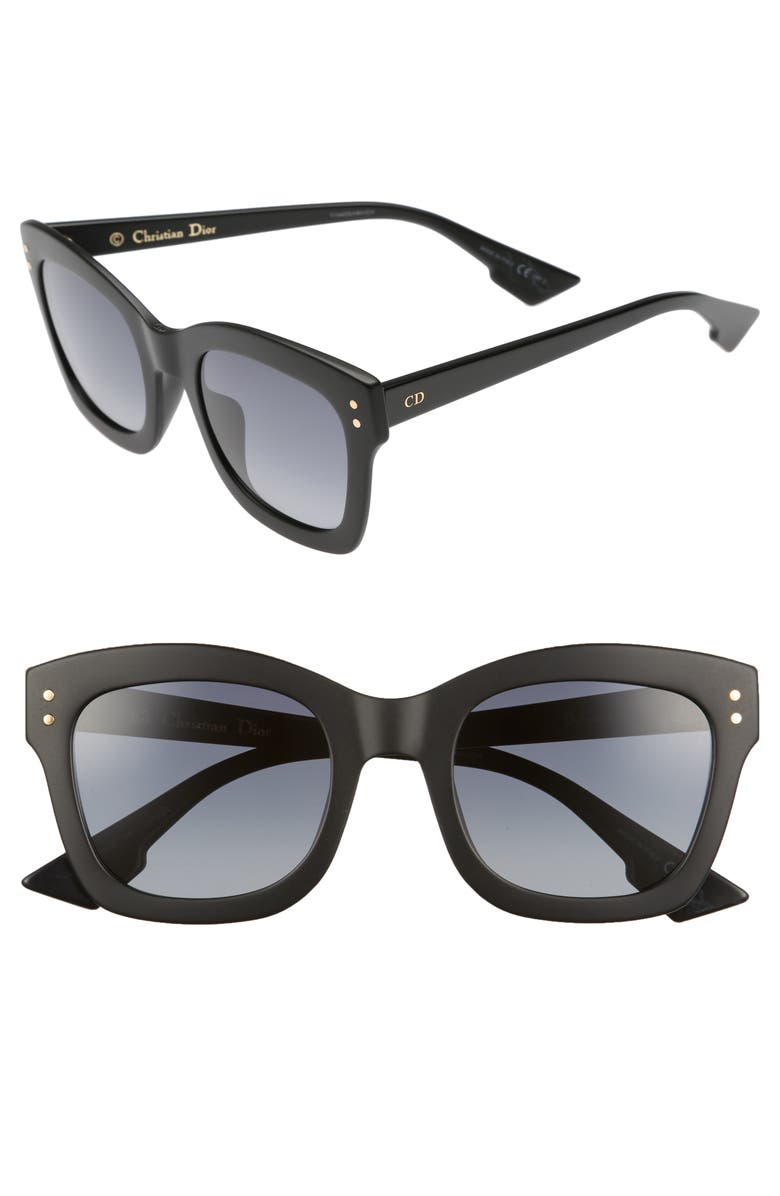 DIOR Izon 51mm Sunglasses, Main, color, 001