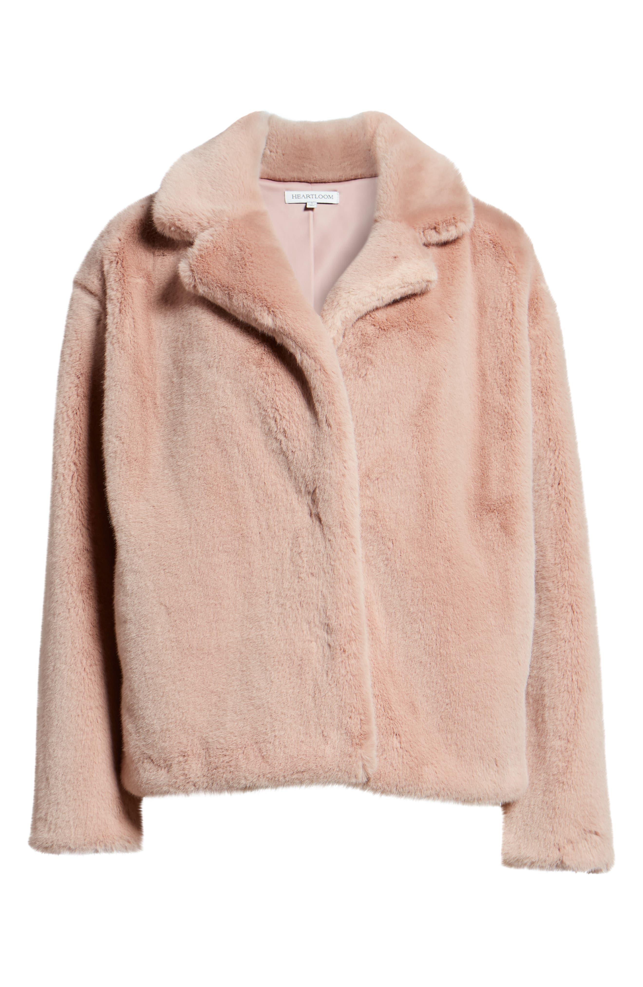 ,                             Luna Faux Fur Jacket,                             Alternate thumbnail 7, color,                             650