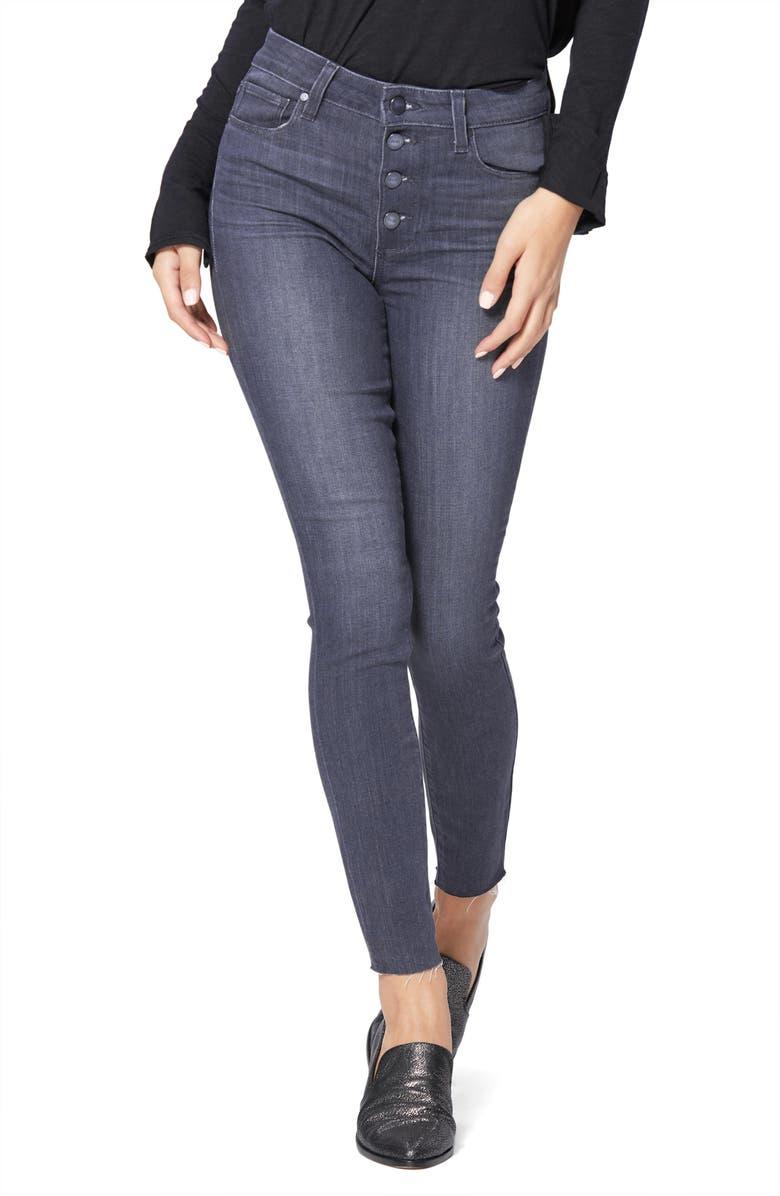 PAIGE Transcend Hoxton High Waist Ankle Skinny Jeans, Main, color, DUSK GREY