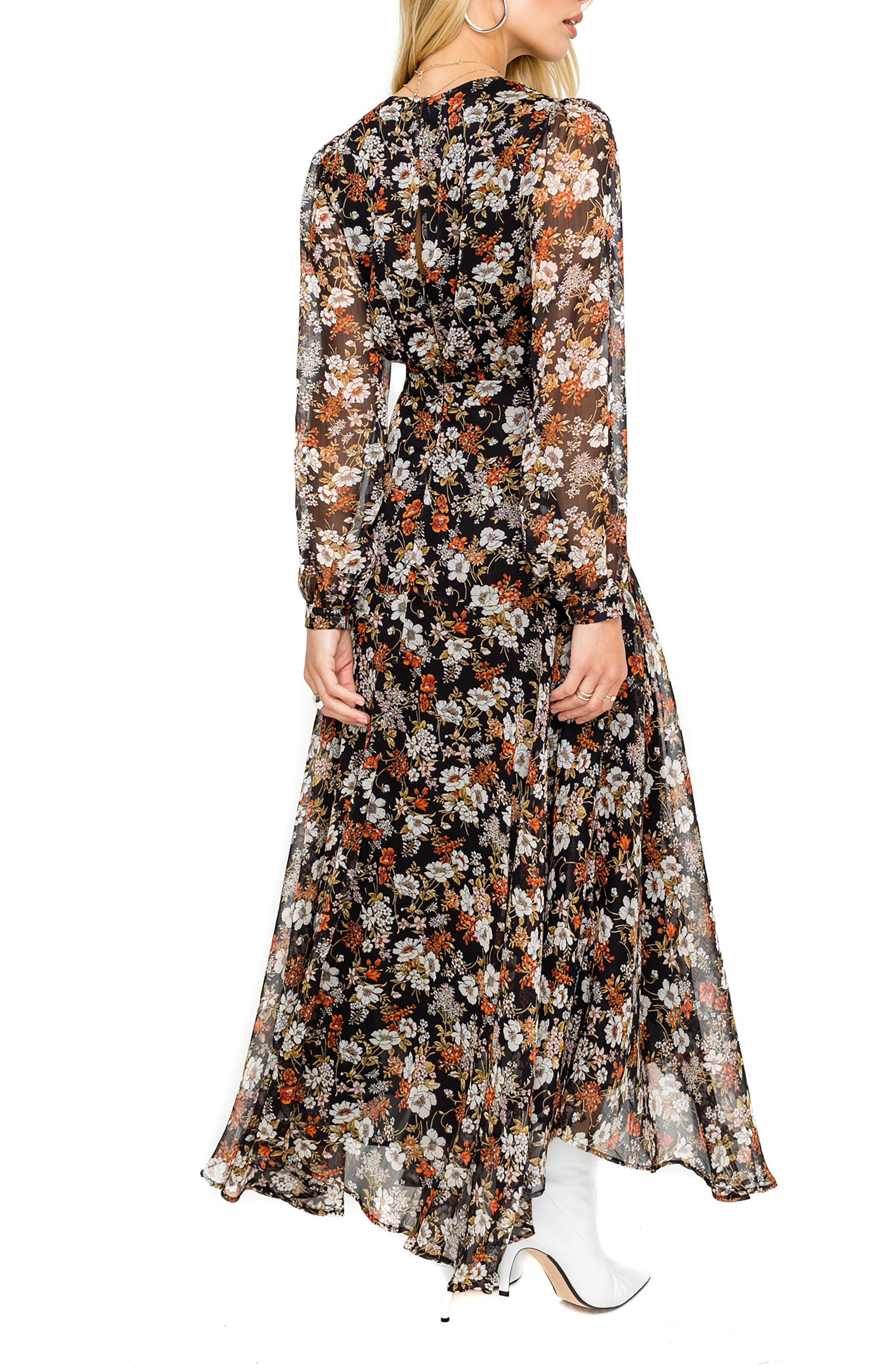 ,                             Handkerchief Hem Maxi Dress,                             Alternate thumbnail 2, color,                             001
