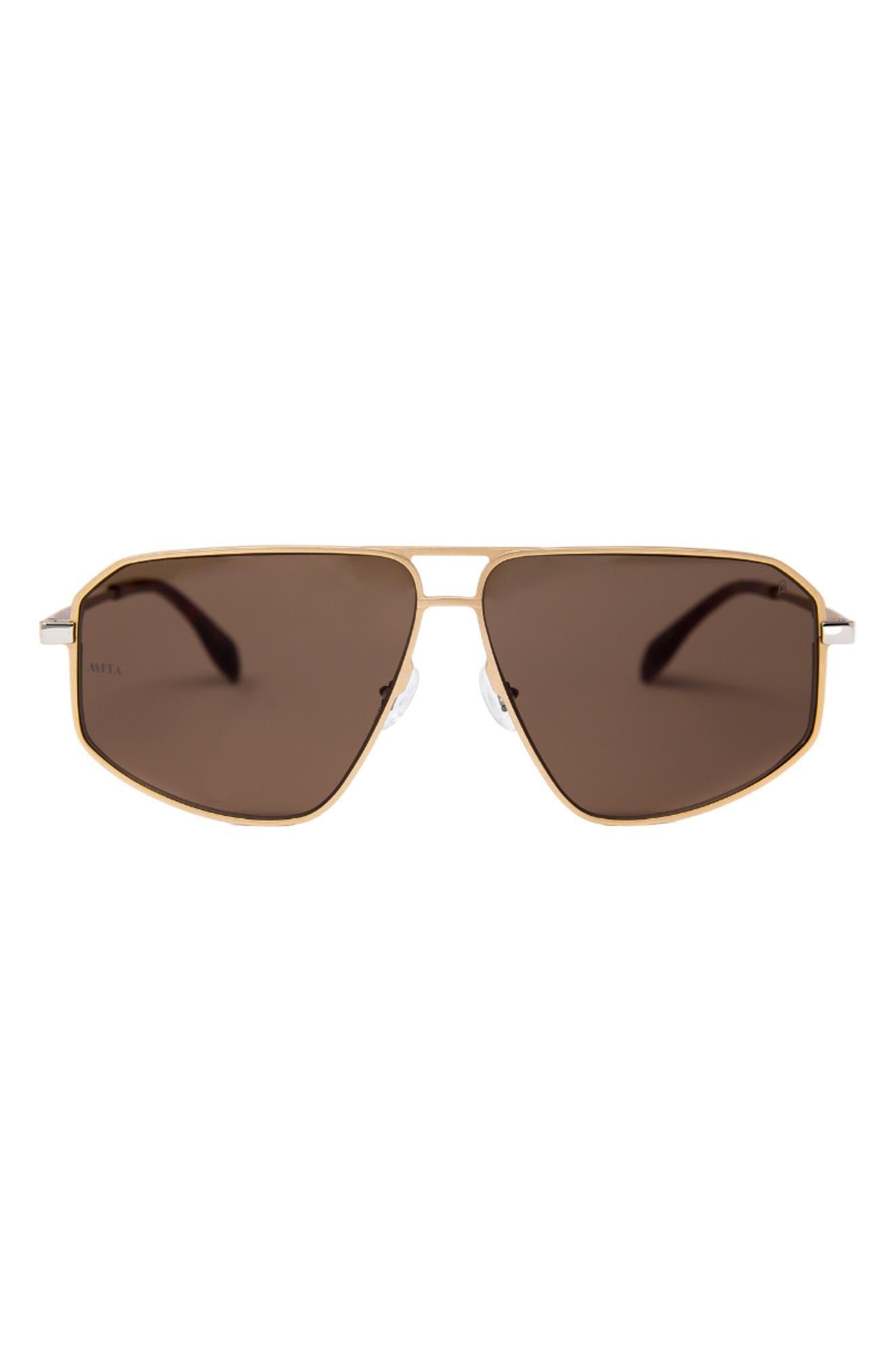 Milano 57mm Aviator Sunglasses