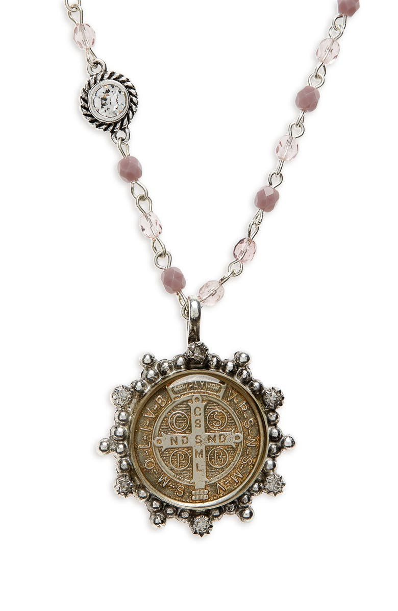 VIRGINS SAINTS & ANGELS San Benito Magdalena Rosary Necklace, Main, color, 041