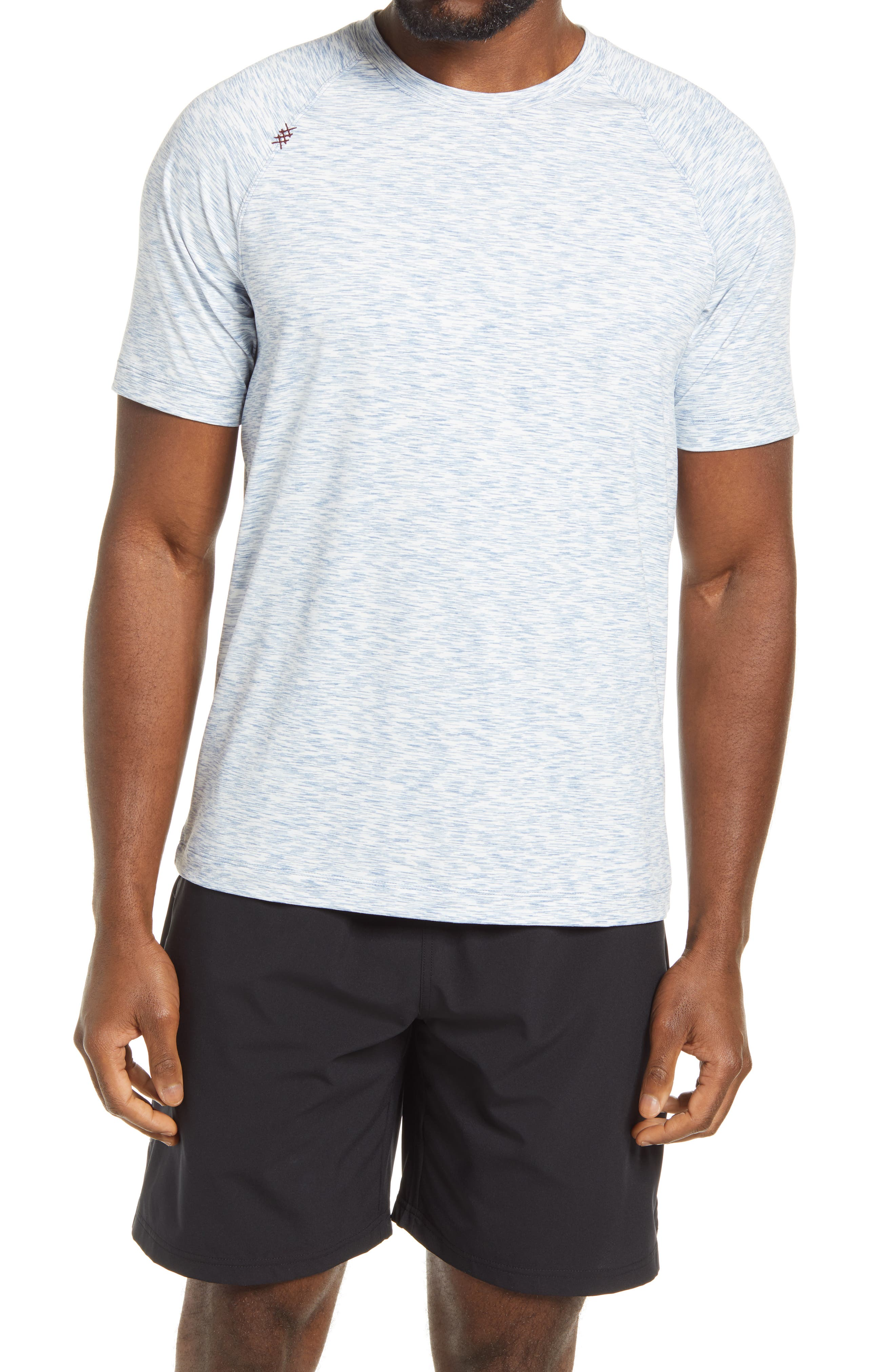Stretchy, moisture-wicking fabric keeps up with you at any intensity in a T-shirt sporting roomy raglan sleeves, added sun protection and essential odor control. Style Name: Rhone Reign Performance T-Shirt. Style Number: 6095344. Available in stores.