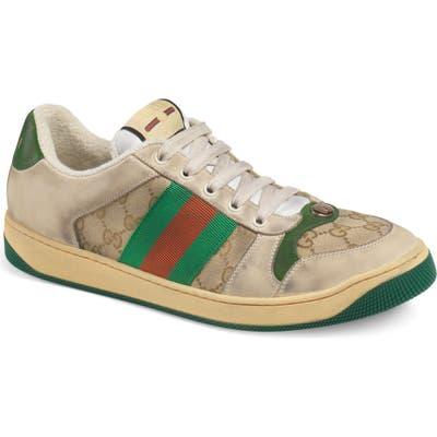Gucci Screener Sneaker, Beige