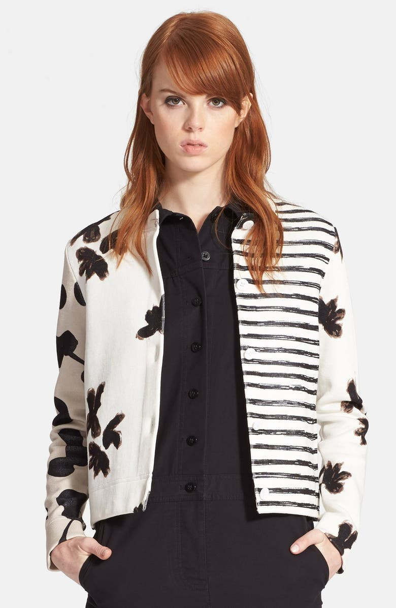 MARC BY MARC JACOBS Patchwork Cardigan, Main, color, 101