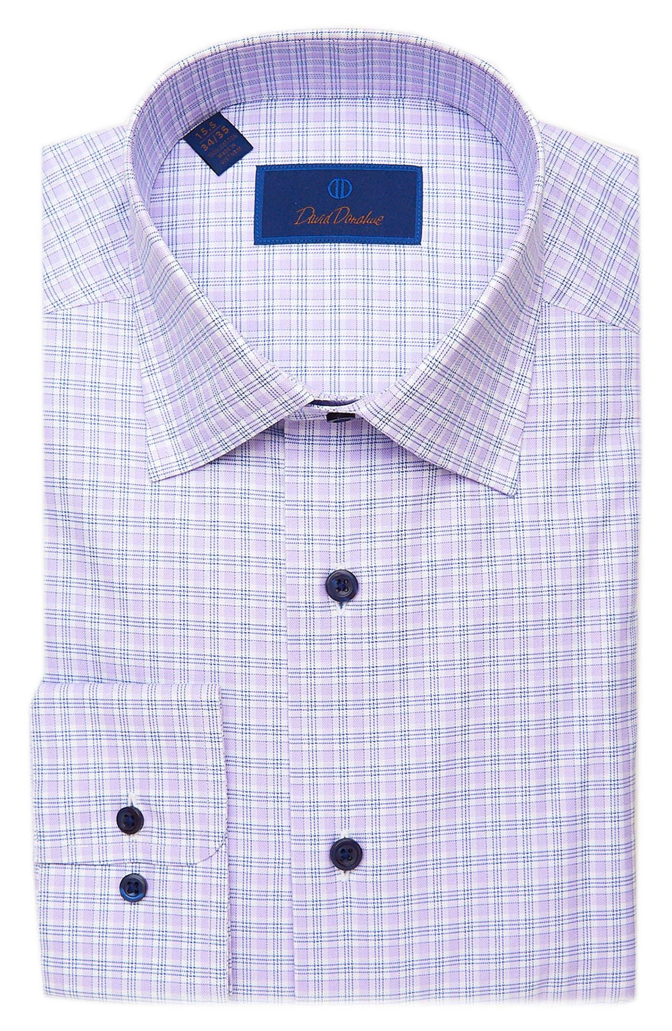 Men's Big & Tall David Donahue Regular Fit Plaid Dress Shirt