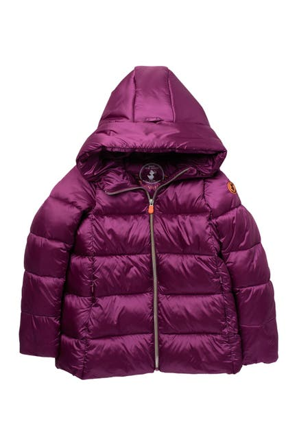 Image of Save The Duck Irridescent Puffer Quilted Jacket