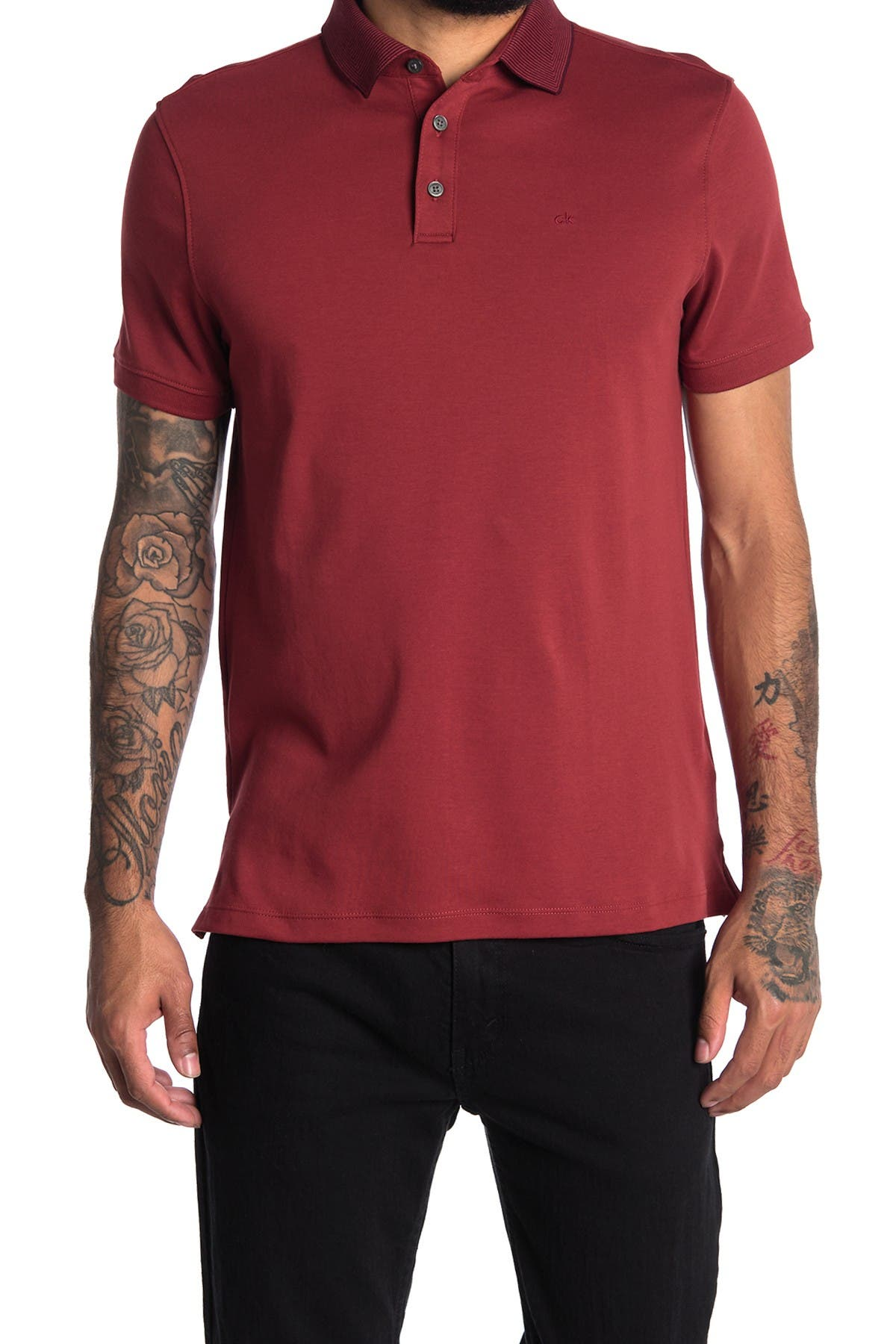 Image of Calvin Klein Short Sleeve Liquid Fancy Polo