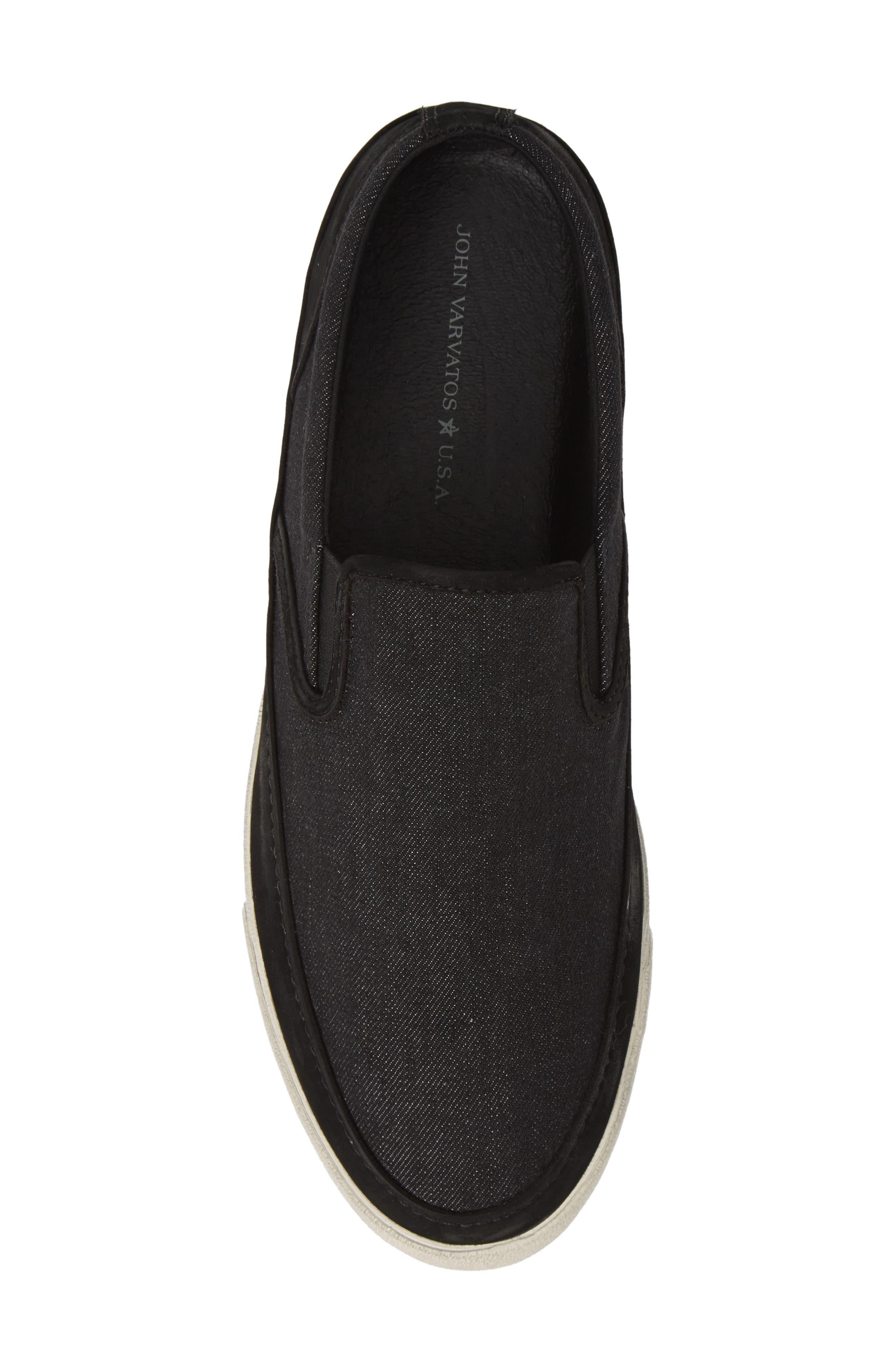,                             Jet Canvas Slip-On Sneaker,                             Alternate thumbnail 5, color,                             MINERAL BLK
