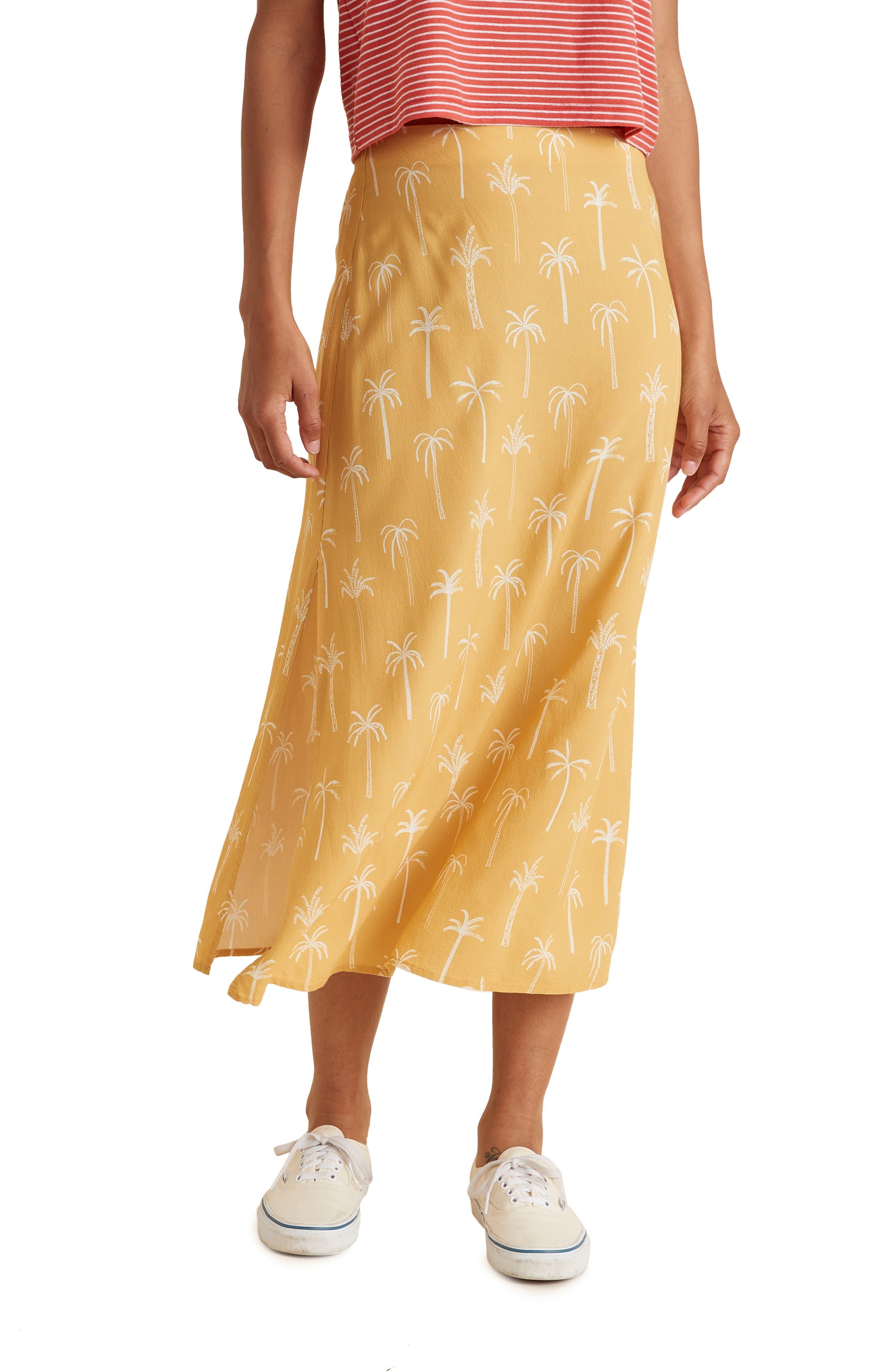 Ryan Palm Print Midi Skirt