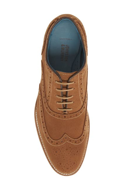 Johnston & Murphy Men's Watkins Wingtip Derbies (Camel)