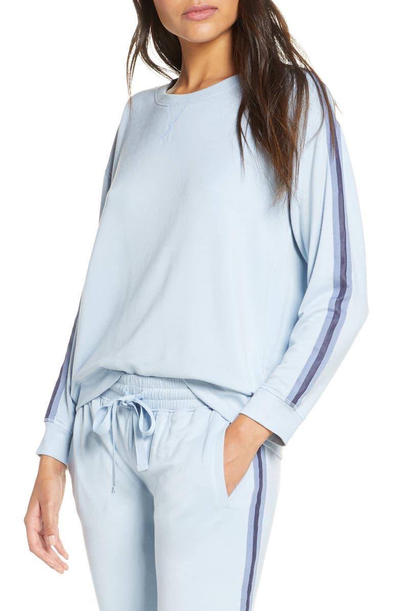 SPLENDID Stripe Sleeve Sweatshirt, Main, color, 450