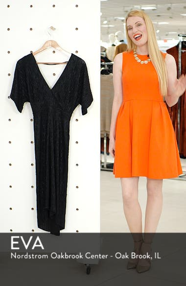 V-Neck High/Low Hem Midi Dress, sales video thumbnail