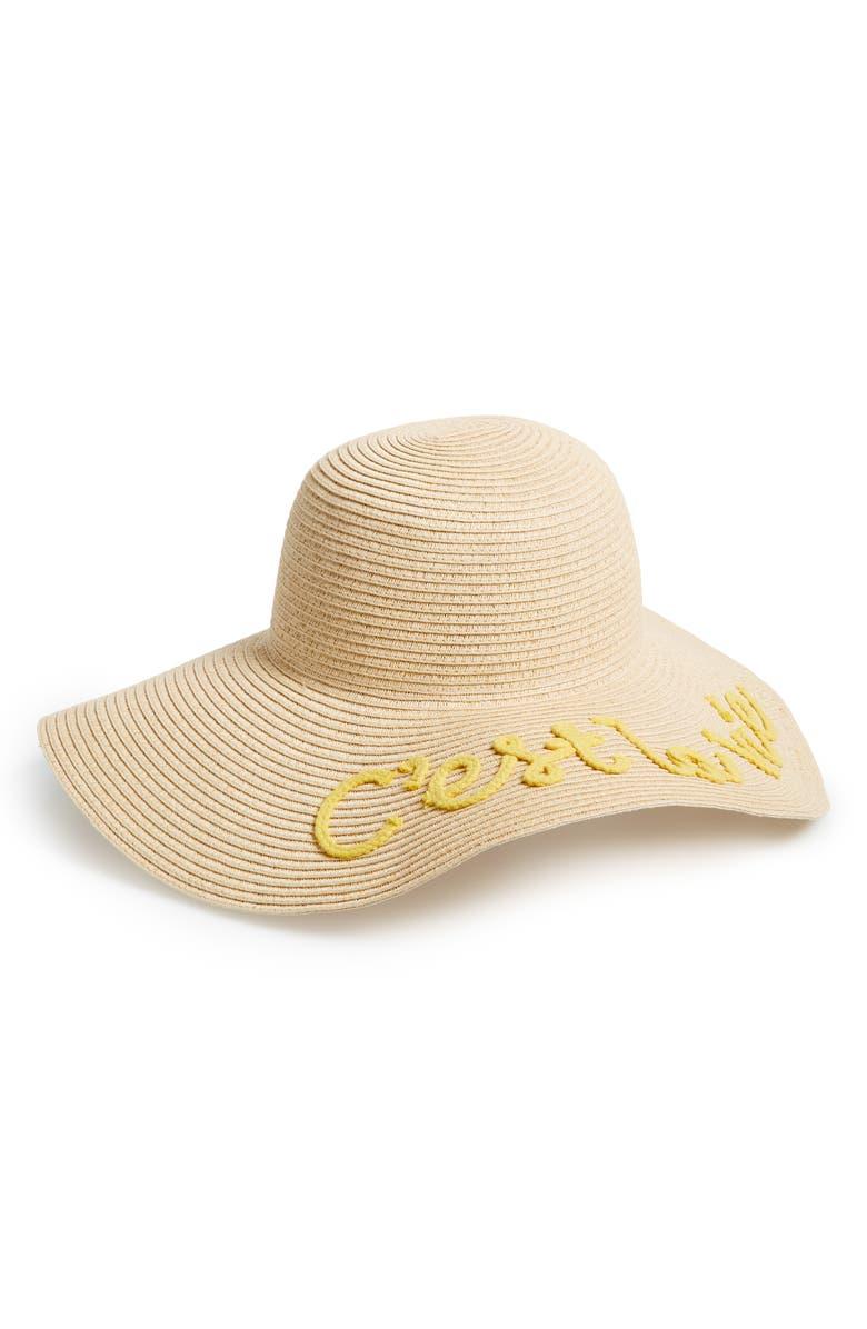 BP. C'est La Vie Floppy Straw Hat, Main, color, 250