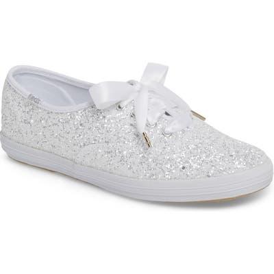 Keds X Kate Spade New York Glitter Sneaker- White