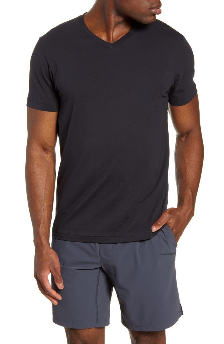 RHONE Element V-Neck T-Shirt, Main, color, 001