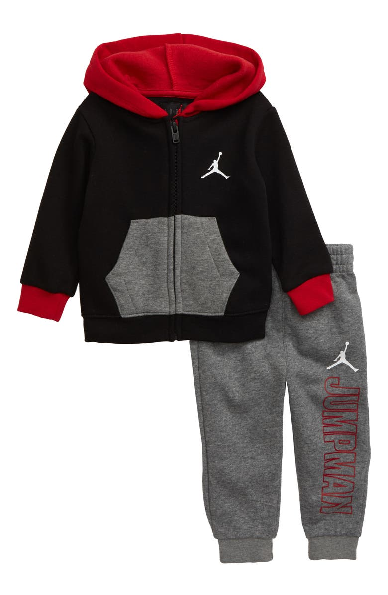 NIKE Jumpman Full Zip Hoodie & Jogger Pants Set, Main, color, 058
