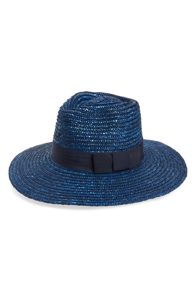 BRIXTON Joanna Straw Hat, Main, color, WASHED NAVY